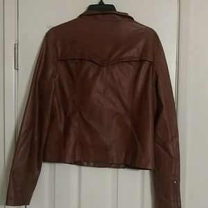 Mossimo Supply Co. Jackets & Coats - Faux Brown leather mossimo jacket size M